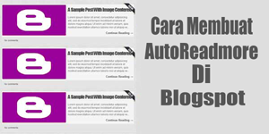 Membuat Auto Readmore dengan Gambar Diatas Teks