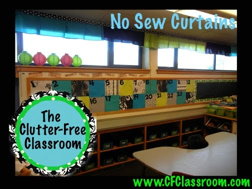 No Sew Curtains My Classroom Makeover Clutter Free