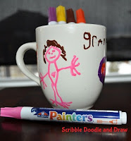 Valentine gifts kids can make draw on mugs with sharpies