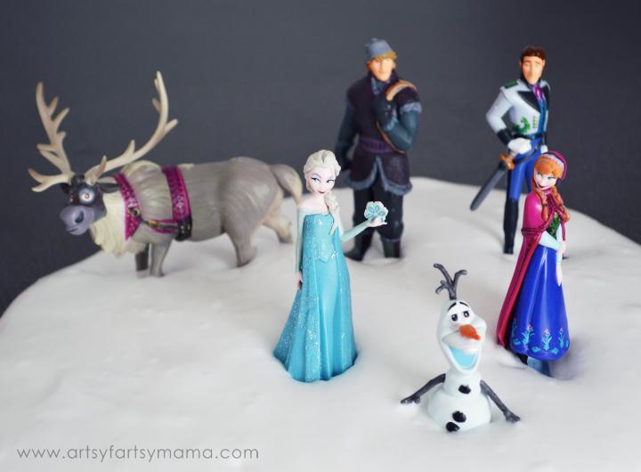 Frozen Snow Slime at artsyfartsymama.com