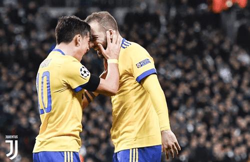 Paulo Dybala dan Gonzalo Higuain menjadi penghancur mimpi Tottenham Hotspur melaju ke babak 8 besar Liga Champions musim ini