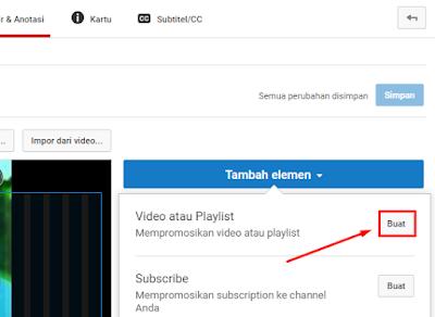 Cara Menambah Link Anotasi End Screen di Akhir Video Youtube 23