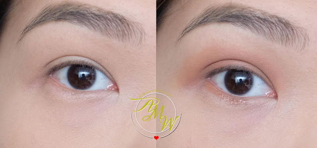before and after photo of BLK Intense Color Liquid Eyeshadow The Bomb review by Nikki Tiu www.askmewhats.com