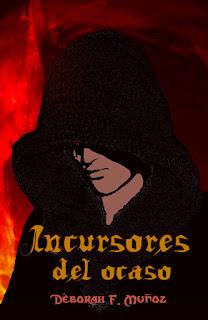 portada de la novela romántica paranormal ciberpunk Incursores del ocaso