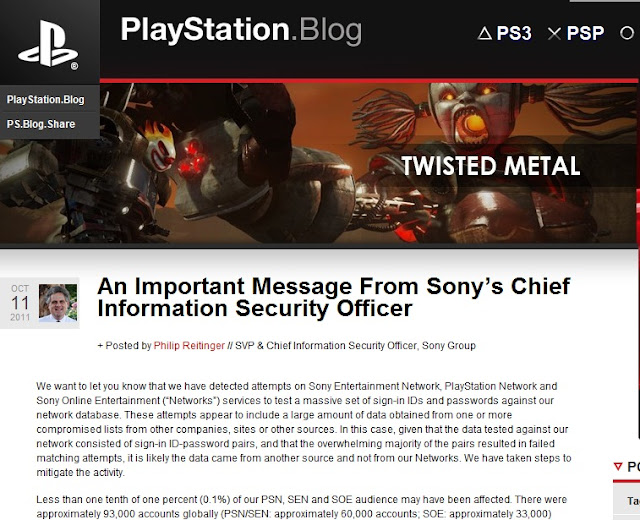 Sony hacked again - 93,000 accounts compromised with brute-force attack