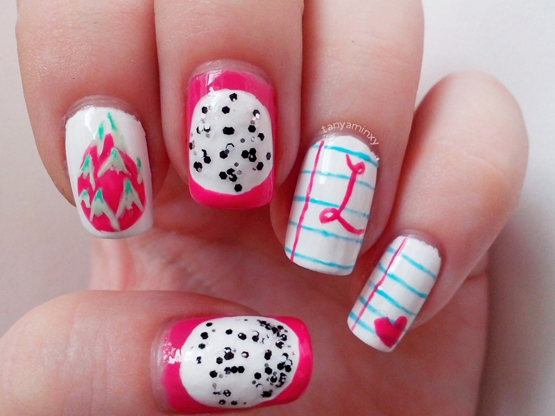 Dragonfruit Diaries Nails Nail Art Nail Design KKCenterHk Brushes Notebook Nails