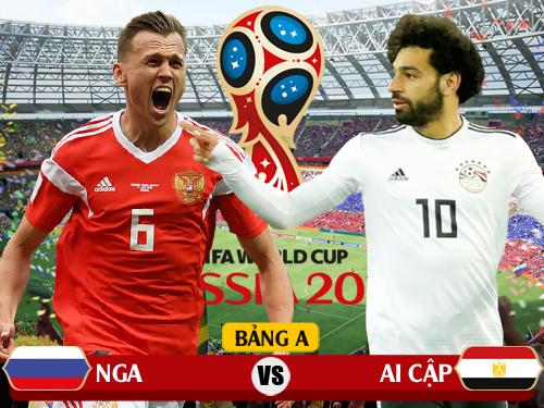 Xem trực tiếp Nga vs Ai Cập vòng 2 World Cup 2018