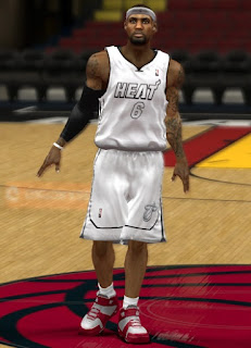NBA 2K13 Miami Heat White Hot Jersey