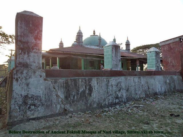 Otoritas Myanmar Hancurkan Masjid Bersejarah Berusia 100 Tahun di Maungdaw, Rakhine