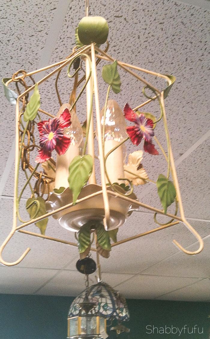 thrift store tole chandelier