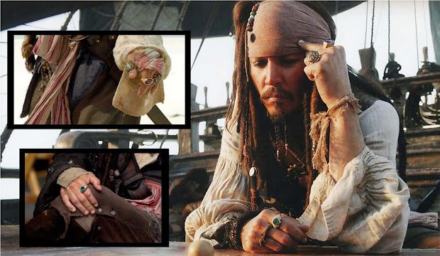 Metal Toys Anel - Piratas Caribe Jack Sparrow 129 90