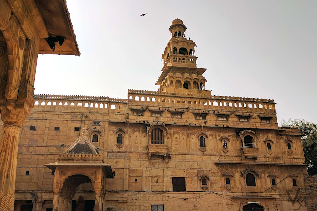 Tazia tower and the Mandir Palace