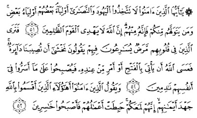 Tafsir Dalam Memilih Pemimpin Di QS Al-Maidah 51-53 yang Benar