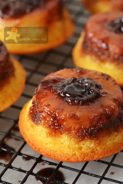 little mini caramel pinepple upside down butter cakes Mrs Ng SK