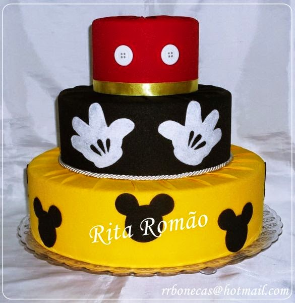 Bolos Fake Mickey Mouse para festa infantil