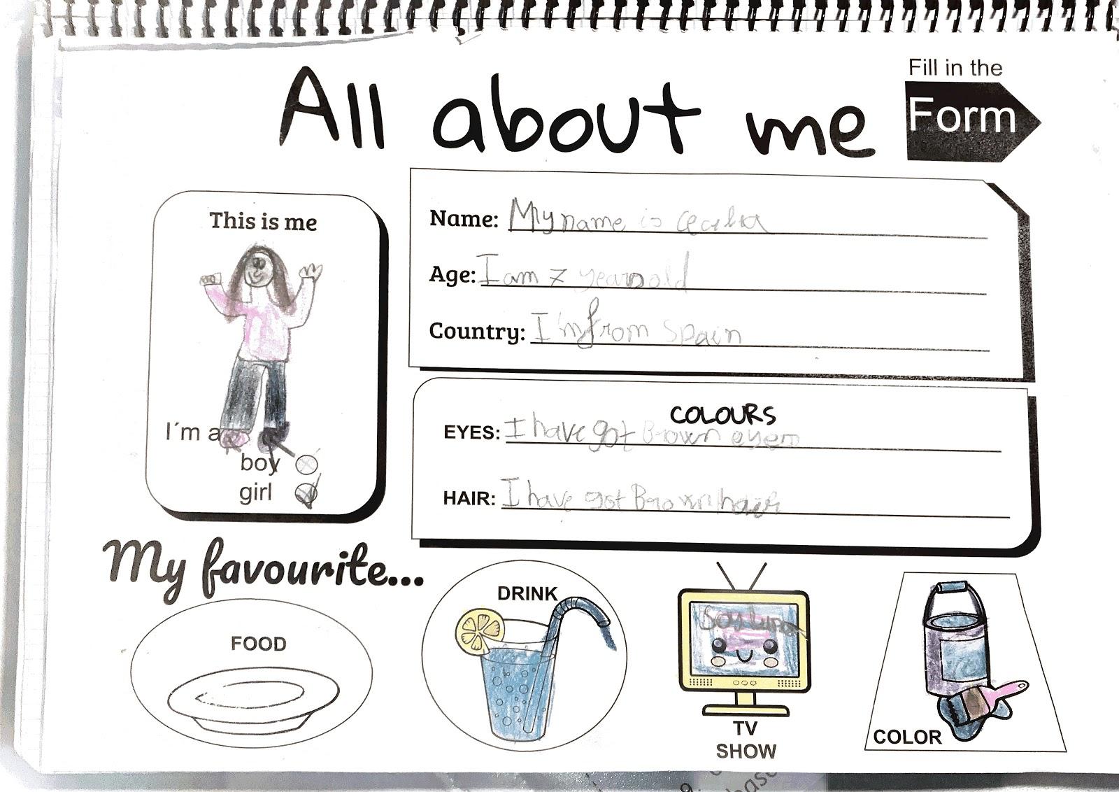 El Blog De Lauraweis All About Me Presentations