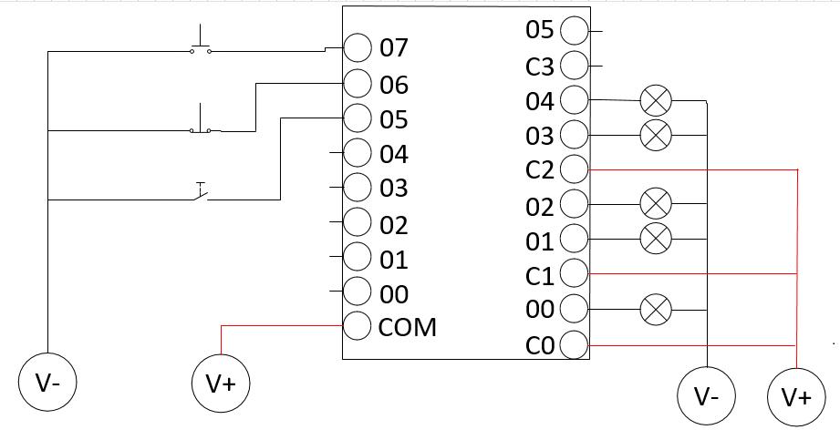 wiring  pengkabelan plc