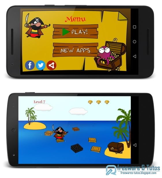 Pawpaw le Pirate : un petit jeu Android pour tuer le temps