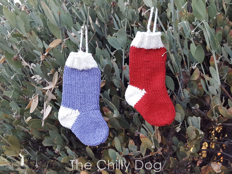 Knitting Pattern Christmas Stocking Ornament Gift Card Holder The