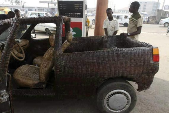 car made with straws in Nigeria