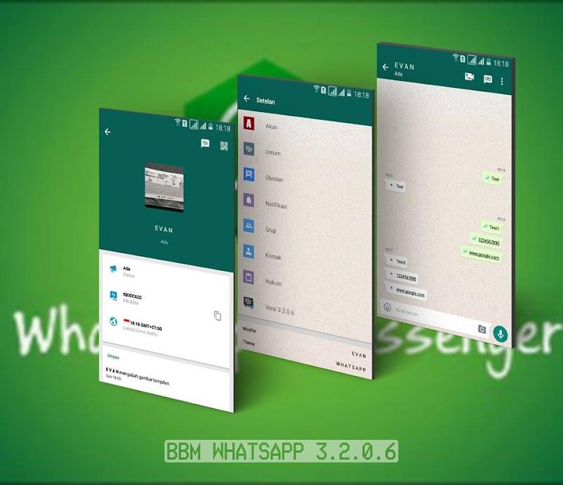 Download BBM Whatsapp Mod New Version 3.2.0.6 Apk Terbaru Gratis