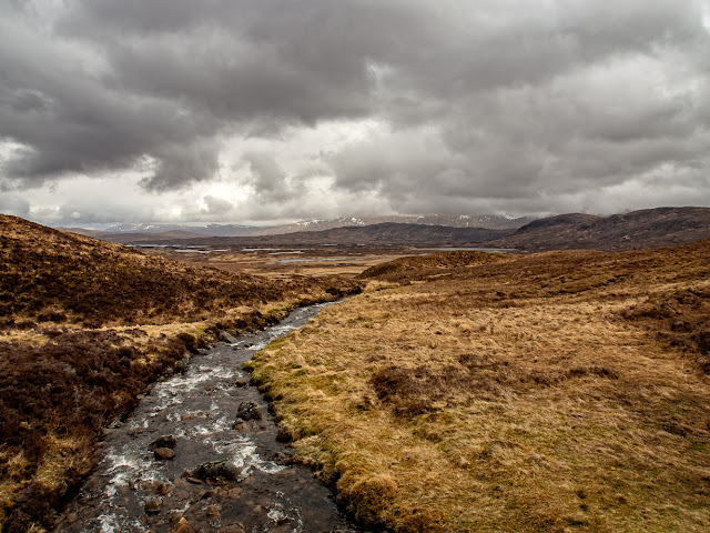 Photo of one of the many streams that runs under the West Highland Way