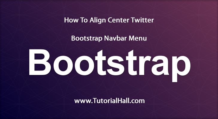 How To Align Center Twitter Bootstrap Nav Bar Menu