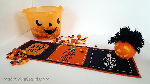 Spook-Free Halloween Mini Quilt by www.madebyChrissieD.com