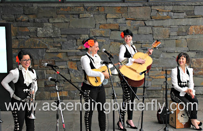 Mariachi Flor de Toloache performing live outdoors at The New York Botanical Garden for Frida Al Fresco Evenings