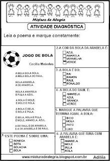 Poema Jogo de bola copa mundial