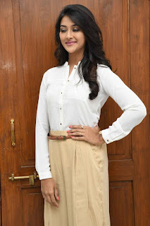 Pooja Jhaveri in White Shirt and Trousers