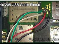 Nokia Asha 205 USB Cable Pinout