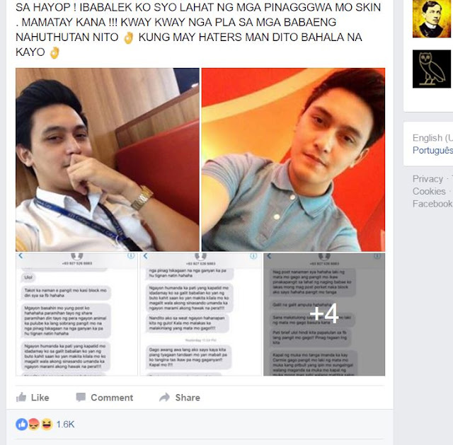 This Rude Ex-Boyfriend Allegedly Insulted, Humiliated and Threatened His Ex-GF After She Exposed All His Dirty Secrets!
