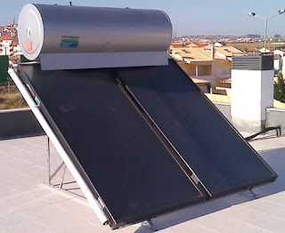 Sistema Energía solar térmica verde alternativa