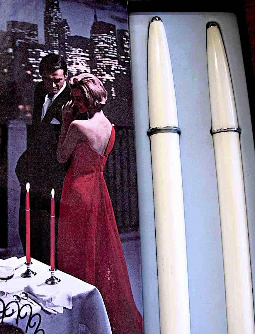 1960s Ronson Stardust butane candles, a color advertisement photograph