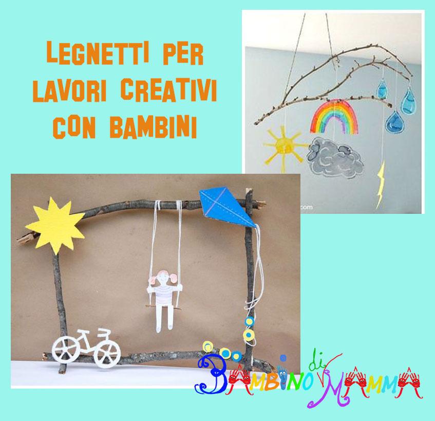 Bambino Di Mamma Lavoretti Creativi Per Bambini Con Legnetti