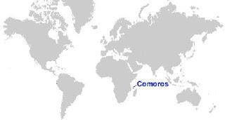 Gambar Peta letak Kepulauan Komoro