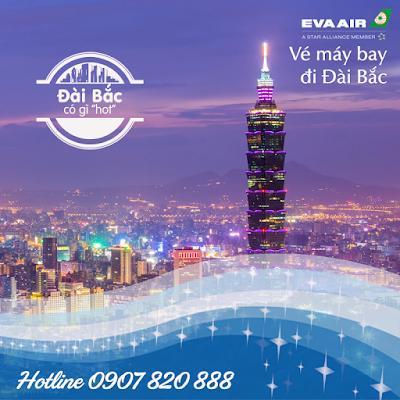 Vé máy bay đi Đài Bắc hãng EVA Air