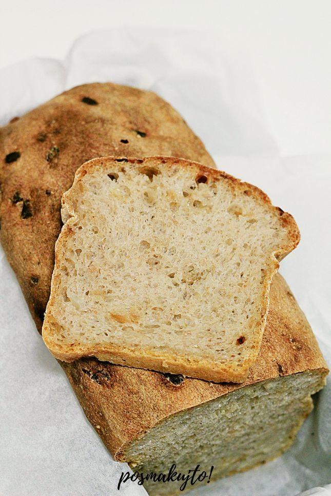 prosty chleb pszenno-zytni na zakwasie z cebula
