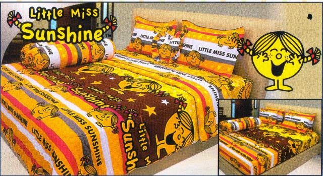sprei internal motif kartun little miss sunshine