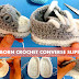 How to crochet newborn converse slippers