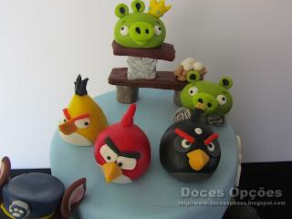 bolo angry birds doces opções bragança