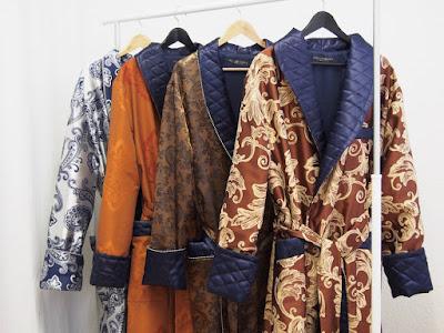 mens traditional long silk robes ankle length velvet dressing gowns
