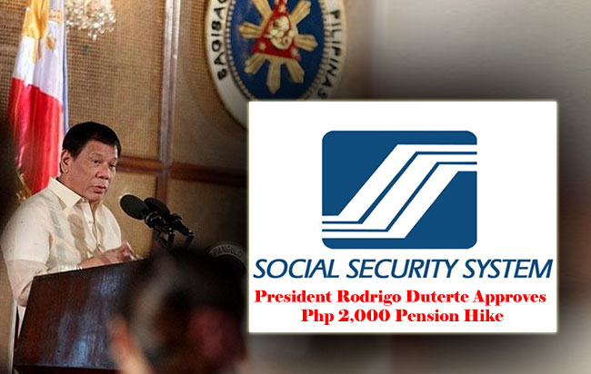 Good news to all SSS pensioners! President Rodrigo Duterte Approves Php 2,000 Pension Hike