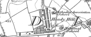 Workhouse, Heady Hill, OS map, 1847.