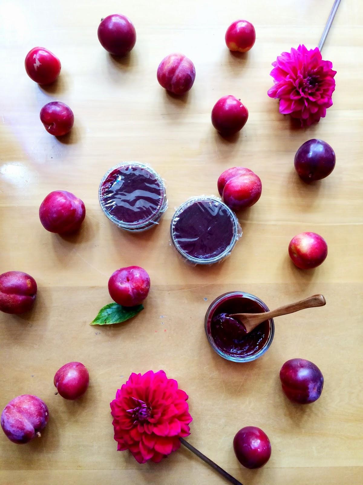 Homemade Flower Preservative Vegan Recipes Plum Jam With Brown Sugar
