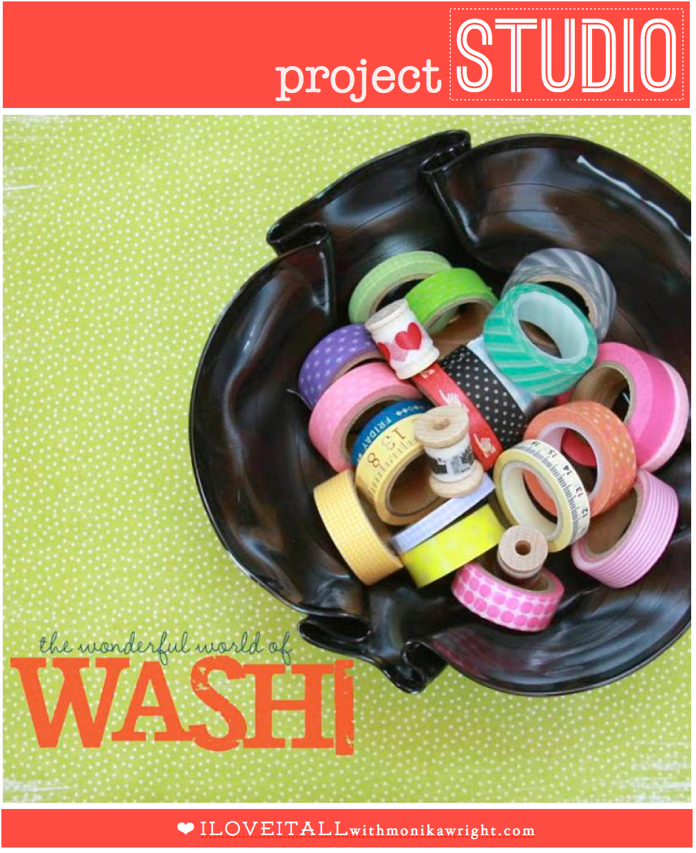 projectSTUDIO washi tape storage | iloveitallwithmonkawright.com