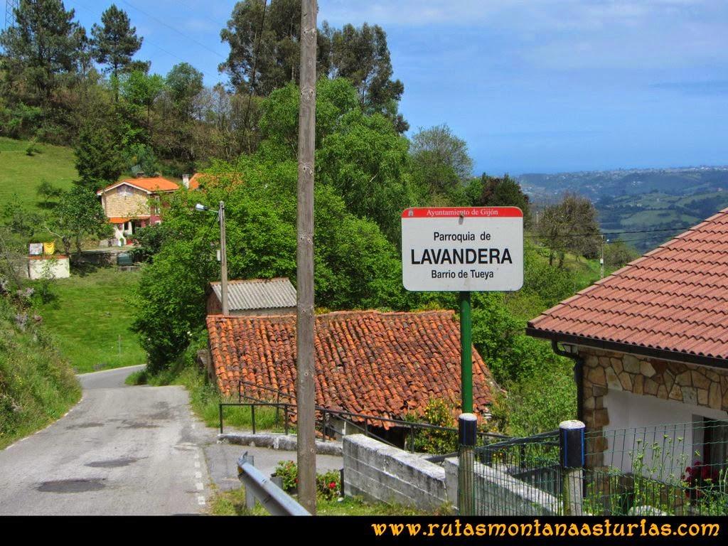 Senda Verde Camocha - Pico Sol - Piles: Bajando por Lavandera hacia La Vega
