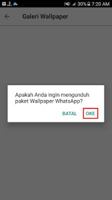Apakah Anda ingin mengunduh paket Wallpaper WhatsApp?
