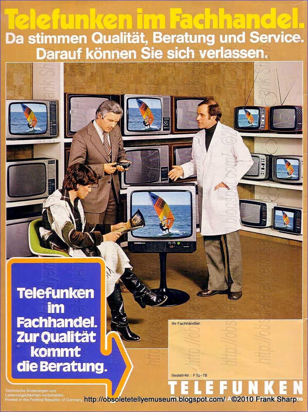 Obsolete Technology Tellye !: TELEFUNKEN PALCOLOR 2228 YEAR
